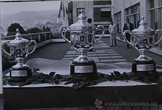 FOTOGRAFIA ORIGINAL DE CAMESELLE - FARO DE VIGO - 1977 - TROFEO CIUDAD DE VIGO - FUTBOL (Fotografía Antigua - Albúmina)