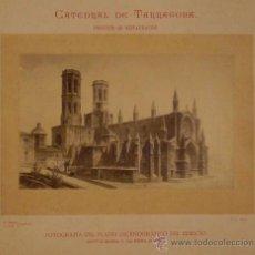 Fotografía antigua: CATEDRAL DE TARRAGONA.FOTOGRAFIA DEL PLANO ESCENOGRÁFICO. 29 X 18 CM. 1886.. Lote 32215905