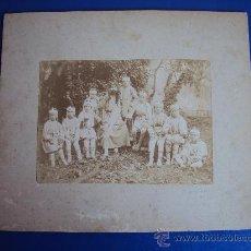 Fotografía antigua: (FOT-117)FOTOGRAFIA ALBUMINA GRUPO TEATRAL DE ESPARRAGUERA. Lote 32608463