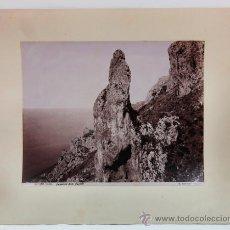 Fotografía antigua: CAPRI, ITALIA. FOTO: GIORGIO SOMMER, TAMAÑO FOTO: 20X28 CM. SOPORTE: 30X37 CM.. Lote 32613888