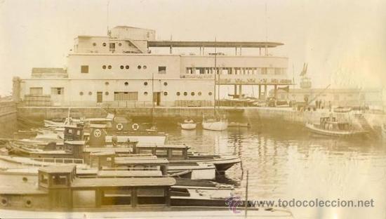 FOTO ORIGINAL AÑOS 40 FARO DE VIGO - PACHECO - EDIFICIO DEL NAUTICO DE VIGO - CONSTRUCCION (Fotografía Antigua - Albúmina)