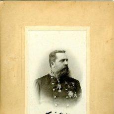 Fotografía antigua: CARLOS VII. CARLOS MARÍA DE BORBÓN Y AUSTRIA-ESTE. CON DEDICATORIA Y FIRMA AUTÓGRAFAS, 1898. Lote 32773210