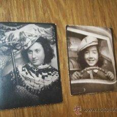 Fotografía antigua: DOS PEQUEÑAS FOTOS( 4.8 X 3.6 Y 4 X 3.6 CM.)-S/F. Lote 32827710