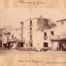 Fotografía antigua: VILANOVA I LA GELTRU. CA. 1870. 5 FOTOGRAFIAS ALBUMINAS. 3 DE 18X12 Y 2 DE 11X8 CM. 1 DE G. MASIP. . Lote 33090942