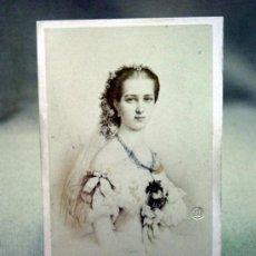 Fotografía antigua: FOTOGRAFIA ANTIGUA, CDV, ALBUMINA, DESMAISONS, PRINCESA DE WALES, CARTE DE VISITE, SIGLO XIX. Lote 33546174