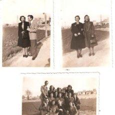 Fotografía antigua: TRES FOTOS HUERTA DE VALENCIA. Lote 33772865