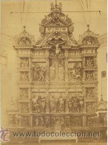 FOTOGRAFIA ALBUMINA DEL RETABLO CAPILLA REAL.CA. 1880. GRANADA-ESPAÑA. FOT. GARZON. (Fotografía Antigua - Albúmina)