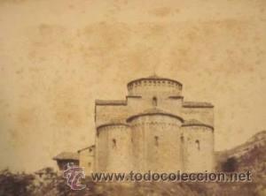 FOTOGRAFIA ALBUMINA DE LA IGLESIA DE SANT JAUME DE FRONTANYA-CATALUNYA. CA1875. (Fotografía Antigua - Albúmina)