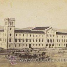 Fotografía antigua: FOTOGRAFIA ALBUMINA DE LA PLAZA UNIVERSITAD (PRIMERA URBANIZACIÓN).BARCELONA-CATALUNYA.CA.1870. Lote 33816011