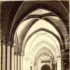 Fotografía antigua: TOLEDO. LAURENT. VISTA INTERIOR DE LA CATEDRAL. Lote 33818752