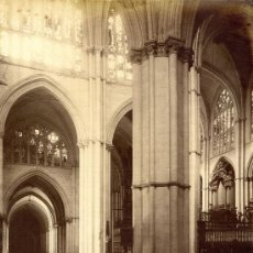 Fotografía antigua: TOLEDO. LAURENT. VISTA INTERIOR DE LA CATEDRAL. Lote 33818890