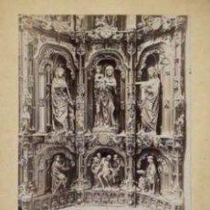 Fotografía antigua: FOTOGRAFIA ALBUMINA DEL ALTAR DE SANTA ANA DE LA CATEDRAL DE BURGOS-ESPAÑA. C1875.. Lote 33903709