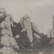Fotografía antigua: FOTOGRAFIA ALBUMINA DE LA MONTAÑA DE MONTSERRAT. CATALUNYA. CA.1880.. Lote 33913054