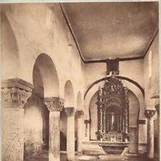 Fotografía antigua: FOTOGRAFIA ALBUMINA DEL FOTOGRAFO J. LAURENT.ERMITA SAN JUAN BAUTISTA.BAÑOS-PALENCIA-ESPAÑA. CA.1870. Lote 33975163