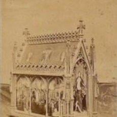 Fotografía antigua: 8 FOTOGRAFIAS ALBUMINAS DE BRUGES. BELGICA. ESCENAS RELIGIOSAS. Lote 33997094
