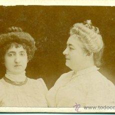 Fotografía antigua - ZARAGOZA. DOS DAMAS ARAGONESAS. FOTO BELTRÁN. HACIA 1890. TIPO CDV. - 34054546