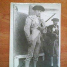 Fotografía antigua: FOTOGRAFÍA ANTIGUA DE TORERO SIN IDENTIFICAR. Lote 34169715