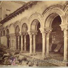 Fotografía antigua: FOTOGRAFIA ALBUMINA DE J. LAURENT. LOS CLAUSTRILLOS DE HUELGAS. BURGOS-ESPAÑA. CA.1880.. Lote 34190032