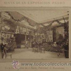 Fotografía antigua: FOTOGRAFIA ALBUMINA DE M. SALA.EXPOSICIÓN DEL PINTOR PADRÓ EN LA SALA PARES DE BARCELONA-CATALUNYA.. Lote 34226528