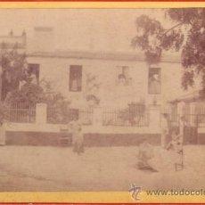 Fotografía antigua: ANTIGUA FOTOGRAFIA DE 16X10.5 CM - UNA CASA SEVILLANA - CREO QUE ALBUMINA. Lote 34301689