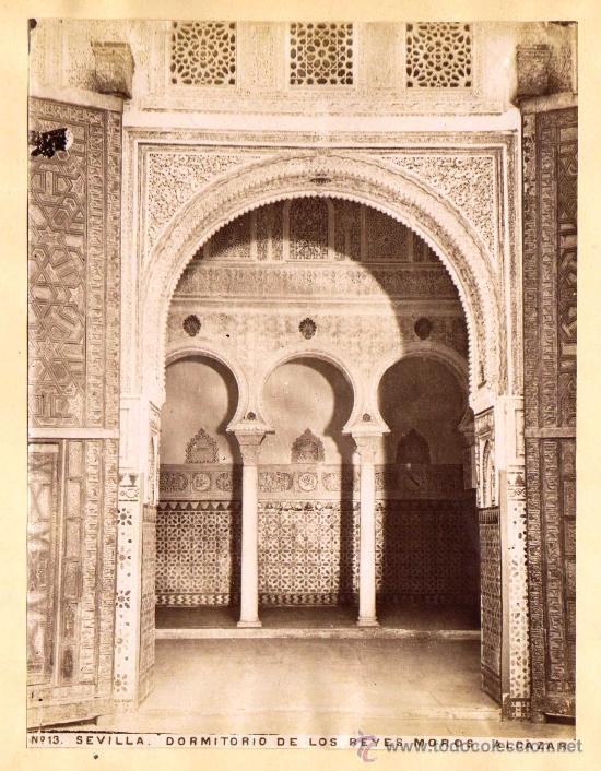 Fotografía antigua: SEVILLA. 4 FOTOGRAFÍAS ALBUMINAS ENTRE 1870-1880. CATEDRAL (2) Y ALCAZAR (2). 17 x 23 cm: - Foto 3 - 34376265