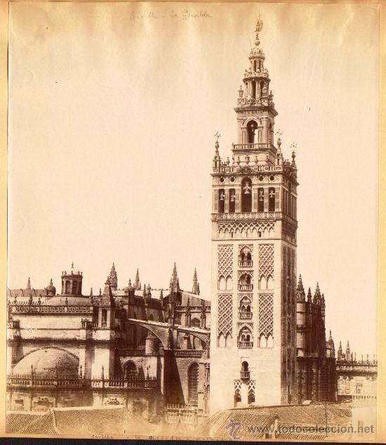 Fotografía antigua: SEVILLA. 4 FOTOGRAFÍAS ALBUMINAS ENTRE 1870-1880. CATEDRAL (2) Y ALCAZAR (2). 17 x 23 cm: - Foto 4 - 34376265