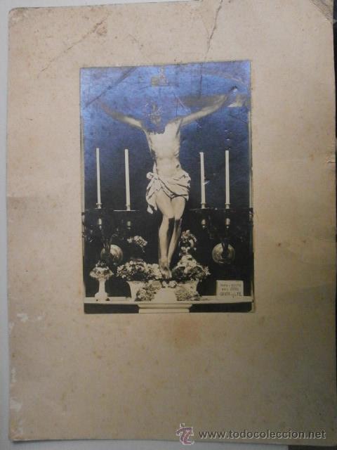 FOTOGRAFIA ANTIGUA RELIGIOSA FOTOGRAFO SON DEFINIR 28 X 21 CM ALBUMINA-439 (Fotografía Antigua - Albúmina)