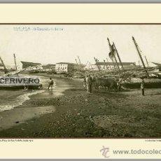 Fotografía antigua: MÁLAGA, PLAYA DE SAN ANDRÉS, HACIA 1910. Lote 34757763