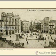 Fotografía antigua: MÁLAGA, PLAZA DE LA CONSTITUCIÓN, HACIA 1910. Lote 34758090