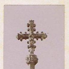 Fotografía antigua: DOS FOTOGRAFIAS ALBUMINAS DE UN CAPITEL Y DE UNA CRUZ DE PIEDRA.CATALUNYA. C 1875. . Lote 34954862