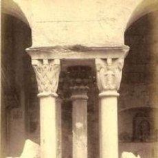 Fotografía antigua: FOTOGRAFIA ALBUMINA DEL CLAUSTRO DE SANT PERE DE GALLIGANS-GIRONA .C1875. Lote 34954931