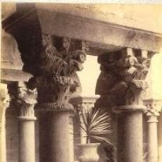 Fotografía antigua: FOTOGRAFIA ALBUMINA DEL CLAUSTRO DE SANT PERE DE GALLIGANS-GIRONA .C1875. Lote 34954944