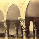 Fotografía antigua: 13 FOTOGRAFIAS ALBUMINAS DEL CLAUSTRO Y CAPITELES MONASTERIO DE SANT CUGAT-BARCELONA. CA. 1875.. Lote 34982218