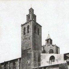 Fotografía antigua: 3 FOTOGRAFIAS HELIOGRABADOS DEL MONASTERIO DE SANT CUGAT-BARCELONA. CA. 1880.. Lote 34982410
