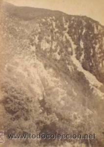 Fotografía antigua: 4 FOTOGRAFIAS ALBUMINAS DE SANT MIQUEL DE FAY-BARCELONA. Ca. 1875. - Foto 3 - 34982559