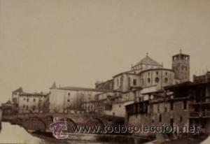 7 FOTOGRAFIAS ALBUMINAS DE VIC-BARCELONA:VISTA GENERAL,SANTSIXT,MONUEMNTO A BALMES,ETC. CA.1875. (Fotografía Antigua - Albúmina)