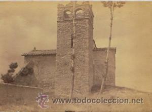 Fotografía antigua: 7 FOTOGRAFIAS ALBUMINAS DE VIC-BARCELONA:VISTA GENERAL,SANTSIXT,MONUEMNTO A BALMES,ETC. Ca.1875. - Foto 2 - 34983860