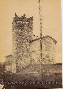 Fotografía antigua: 7 FOTOGRAFIAS ALBUMINAS DE VIC-BARCELONA:VISTA GENERAL,SANTSIXT,MONUEMNTO A BALMES,ETC. Ca.1875. - Foto 3 - 34983860