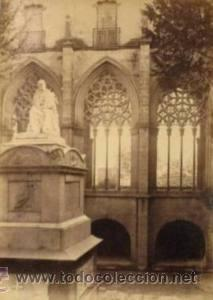 Fotografía antigua: 7 FOTOGRAFIAS ALBUMINAS DE VIC-BARCELONA:VISTA GENERAL,SANTSIXT,MONUEMNTO A BALMES,ETC. Ca.1875. - Foto 4 - 34983860