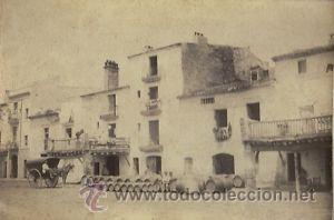 5 FOTOGRAFIAS ALBUMINAS DE VILANOVA I LA GELTRU-BARCELONA: CA.1875. (Fotografía Antigua - Albúmina)