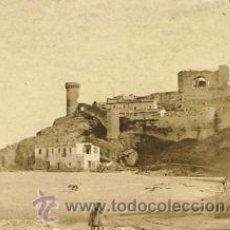 Fotografía antigua: FOTOGRAFIA ALBUMINA DE TOSSA DE MAR VISTA DESDE LA PLAYA. CA.1875. 18X13 CMS. Lote 34998233
