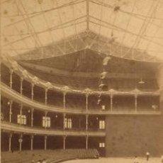 Fotografía antigua: 4 FOTOGRAFÍAS ALBUMINAS DEL FRONTÓN CONDAL DE BARCELONA.1893/94.3 CONTRUCCIÓN.1 ACABADO. FOT. ROGENT. Lote 35132701