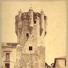 Fotografía antigua: 2 FOTOGRAFIAS ALBUMINAS DE J. LAURENT DE SALAMANCA:TORRE DEL CLAVERO Y. Lote 35158502