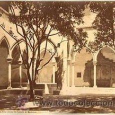 Fotografía antigua: FOTOGRAFIA ALBUMINA DE J. LAURENT DE BARCELONA:PATIO INTERIOR DEL CONVENTO DE MONTESIÓN. CA.1870. Lote 35196350