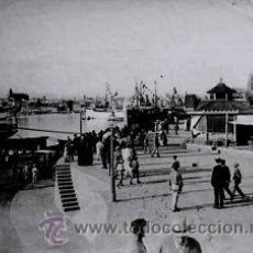 Fotografía antigua: 2 FOTOGRAFIAS ALBUMINAS DEL PUERTO Y LA LONJA DE MALLORCA. CA.1880. . Lote 36429341