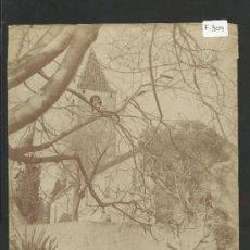 Fotografía antigua: SAN GENIS - IGLESIA -MED.16X21CM. FOT.ARTISTICA , PONIENTE 38, BARCELONA - (F-304). Lote 35228697