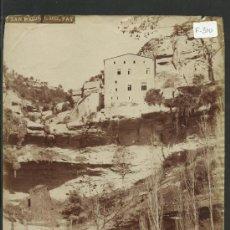 Fotografía antigua: SAN MIQUEL DEL FAY- VISTA GENERAL DEL MONASTIR -MED.16X21CM. FOT.ARTISTICA , PONIENTE 38, - (F-310). Lote 35228932