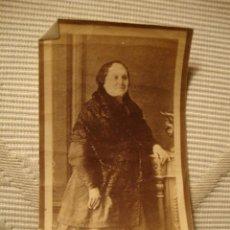 Fotografía antigua: ANTIGUA FOTOGRAFIA ALBÚMINA, ORIGINAL, S.XIX, CA. 1880. Lote 35428218