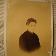 Fotografía antigua: ANTIGUA FOTOGRAFIA ALBÚMINA EN CARTON, ORIGINAL, S.XIX, CA. 1880. Lote 35428384