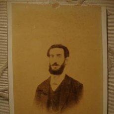 Fotografía antigua: ANTIGUA FOTOGRAFIA ALBÚMINA EN CARTON, ORIGINAL, S.XIX, CA. 1880. Lote 35428392